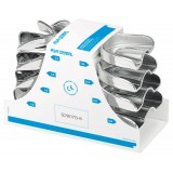 Set 8 Cubetas Perma Lock High Acero Inox. Asa Dental