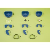 Articulador fijación móvil + juego zocaladores + cubetas + bandas goma + placas [MESTRA]